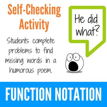 Function Notation - Fun Limerick Activity