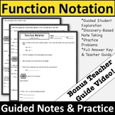 Function Notation Guided Notes & Practice