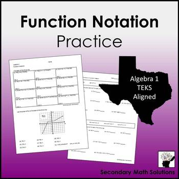 function notation practice a12b by secondary math solutions tpt. Black Bedroom Furniture Sets. Home Design Ideas