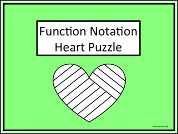 Function Notation Heart Puzzle