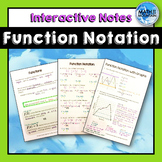 Function Notation Interactive Notebook Notes