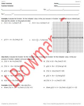 Function Notation (Math 1)