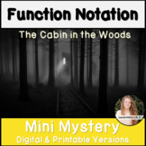 Function Notation Activity   Digital and Printable Versions