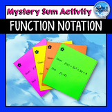 Function Notation Mystery Sum Activity