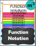 Function Notation (Notes & 2 Quizzes) (GOOGLE)(Distance Learning)