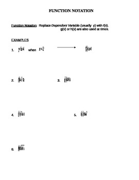 Function Notation Notes Handout by Jason Myers | TpT