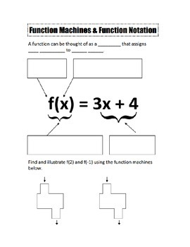 Function Notation Notes and... by camfan54 | Teachers Pay Teachers