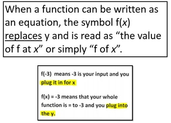 Function Notation (PowerPoint Lesson & Printables!)