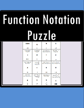 Function Notation Puzzle