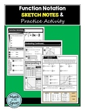 Function Notation Sketch Notes & Practice Activity