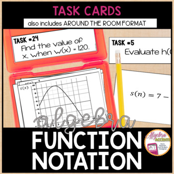 Function notation teaching resources teachers pay teachers function notation task cards function notation task cards fandeluxe Gallery