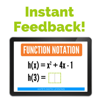 Function Notation Task and Boom Cards