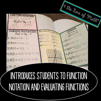 Function Notation and Evaluating Functions INB Pages
