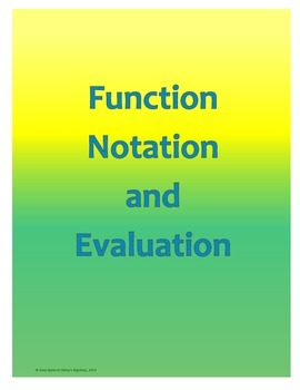 Function Notation and Evaluation