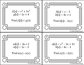 Function Operation Task Cards