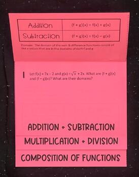 Function Operations (Algebra 2 Foldable)