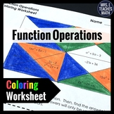 Function Operations Coloring Worksheet
