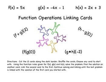 Function Operations Linking Cards and Envelope