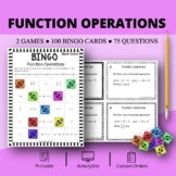 Function Operations Math Bingo Review Game