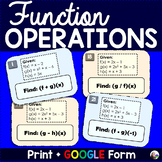 Function Operations Tasks - print and digital