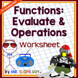 Function Operations Worksheet