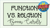 Function Or Relation Boom Cards™ task cards - Online Activity
