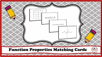 Function Properties Matching cards