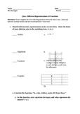 Function Representations Quiz