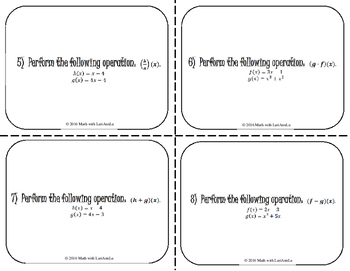 Function Review - Task Cards