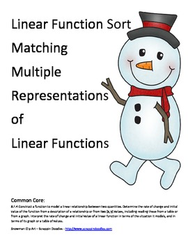 Function Sort Snowman Riddle