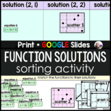Function Solutions Sorting Activity - print and digital