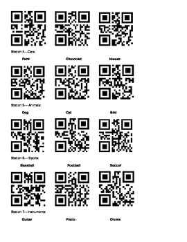 Function Table Activity using QR Codes