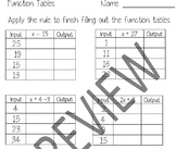 Function Table Practice