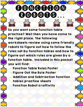 Function Table Robots