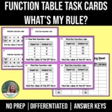 Function Table Task Cards - What's My Rule