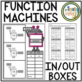 Function Machines and Function Tables (IN and OUT Boxes)