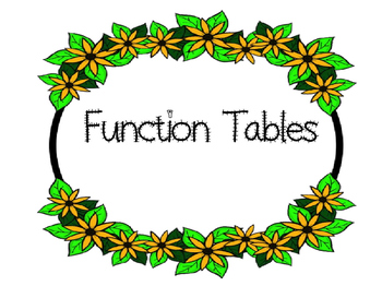 Function Tables: In & Out Boxes