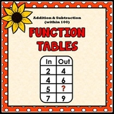 Function Tables - Addition and Subtraction