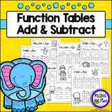 Function Tables: Addition and Subtraction (Input Output Boxes)