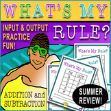 Function Tables⭐Input Output Tables, Addition and Subtraction ⭐ 75 Pgs. Summer ⭐