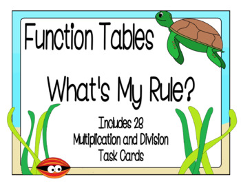 Function Tables - Multiplication and Division Input/Output