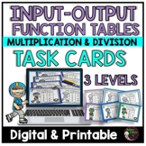 Function Tables - Multiplication and Division Input Output Tables Task Cards
