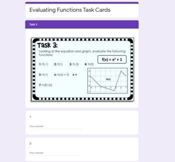 evaluating functions task cards by scaffolded math and science tpt. Black Bedroom Furniture Sets. Home Design Ideas