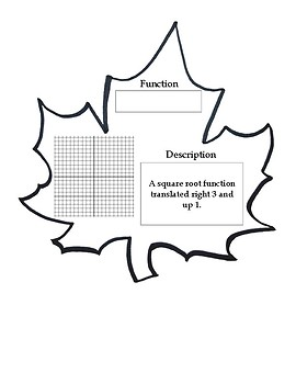 Function Transformation Autumn Leaf Pennants
