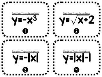 Function Transformation Flash Cards