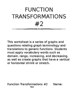 Function Transformations #2