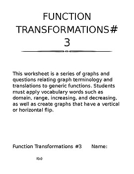 Function Transformations #3