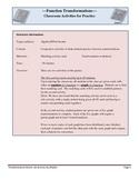 Function Transformations Activities