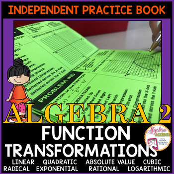 Function Transformations Independent Practice Book and Guided Instruction Format
