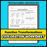 Function Transformations Worksheet